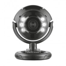 Webcam USB 2.0 1,3 megapixel con luci LED Trust SpotLight Pro nero 16428