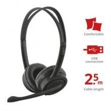 Cuffie con microfono USB Trust Mauro 2.8 m nero 17591