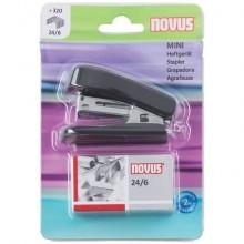 Set cucitrice Novus Mini + punti 24/6 max 12 ff nero H101031