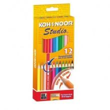 Astuccio matite colorate KOH-I-NOOR Legno 12pz - DH3312