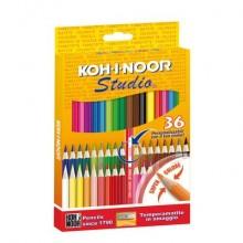 Astuccio matite colorate KOH-I-NOOR Legno 36pz - DH3336