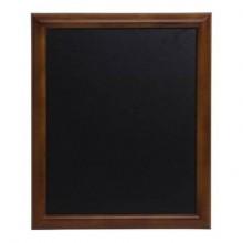 Lavagna da parete a gesso liquido Securit® Universal in legno 62x82 cm noce - WBU-DB-60