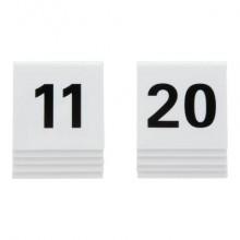 Segnaposto Securit® in acrilico rigido numeri da 11 a 20 bianco set da 10 pezzi - TN-11-20-WT