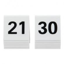 Segnaposto Securit® in acrilico rigido numeri da 21 a 30 bianco set da 10 pezzi - TN-21-30-WT