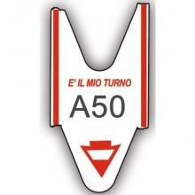 Rotolo per eliminacode PRINTEX 2000 tickets f.to lettera + 2 cifre rosso Conf. 5 pezzi - TR/ROLL/RSS