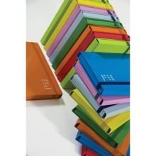 Cartella a 3 lembi con elastico piatto BREFIOCART NEW COLOR 25x35 cm dorso 10 cm azzurro - 0221301.AZ