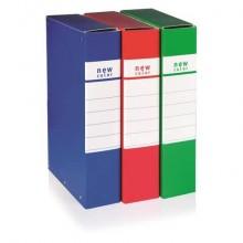 Cartella portaprogetti con 3 bottoni BREFIOCART NEW COLOR 25x35 cm dorso 12 cm blu - 020E7009.BL (Conf.5)