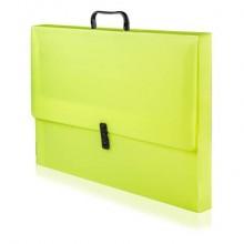 Scatola portaprogetti con maniglia BREFIOCART POLIONDA 38x53 cm dorso 4 cm colore fluo - 020M4005.FLUO