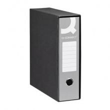 Registratore protocollo Q-Connect con custodia dorso 8 cm grigio 23x33 cm - 0201990/P.GR (Conf.6)
