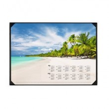 Sottomano DURABLE 590x420 mm + blocco 25 ff stampa a fantasia spiaggia tropicale 731115