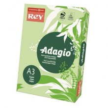 Carta colorata A3 INTERNATIONAL PAPER Rey Adagio verde 81 risma 250 fogli - ADAGI160X487