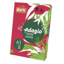 Carta colorata A3 INTERNATIONAL PAPER Rey Adagio rosso intenso 22 risma 250 fogli - ADAGI160X503