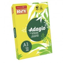 Carta colorata A3 INTERNATIONAL PAPER Rey Adagio giallo intenso 66 risma 500 fogli - ADAGI080X670