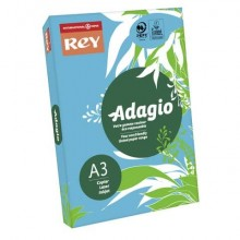 Carta colorata A3 INTERNATIONAL PAPER Rey Adagio 80 g/m² blu intenso 51 risma 500 fogli - ADAGI160X470
