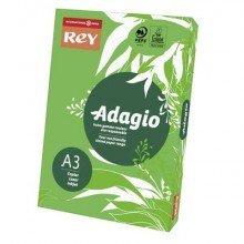 Carta colorata A3 INTERNATIONAL PAPER Rey Adagio verde intenso 52 risma 500 fogli - ADAGI080X682