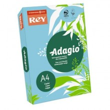 Carta colorata A4 INTERNATIONAL PAPER Rey Adagio blu tenue 48 risma 250 fogli - ADAGI160X471