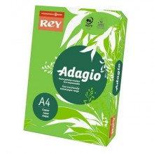 Carta colorata A4 INTERNATIONAL PAPER Rey Adagio verde intenso 52 risma 250 fogli - ADAGI160X457