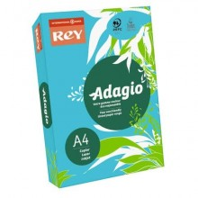 Carta colorata A4 INTERNATIONAL PAPER Rey Adagio blu intenso 51 risma 500 fogli - ADAGI080X622