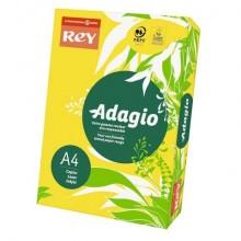 Carta colorata A4 INTERNATIONAL PAPER Rey Adagio giallo intenso 66 risma 500 fogli - ADAGI080X636