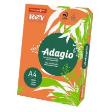 Carta colorata A4 INTERNATIONAL PAPER Rey Adagio arancio 21 risma 500 fogli - ADAGI080X639