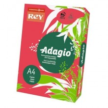 Carta colorata A4 INTERNATIONAL PAPER Rey Adagio 80 g/m² rosso intenso risma da 500 fogli - ADAGI080X645