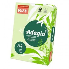 Carta colorata A4 INTERNATIONAL PAPER Rey Adagio 80 g/m² verde risma da 500 fogli - ADAGI080X651