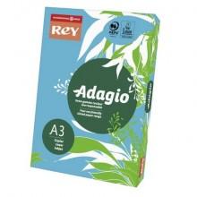 Carta colorata A3 INTERNATIONAL PAPER Rey Adagio 160 g/m² blu risma da 250 fogli - ADAGI160X501