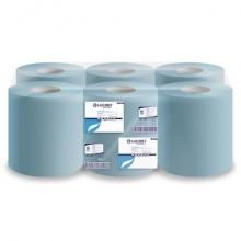Asciugamani industriali multiuso 2 veli Lucart blu 6 rotoli da 450 strappi - 852105