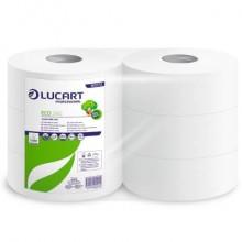 Carta igienica Lucart Eco 360 m jumbo 2 veli 6 rotoli da 973 strappi - 812173P