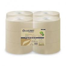 Carta igienica Lucart EcoNatural 150 m jumbo 2 veli avana 12 rotoli da 405 strappi - 812152P