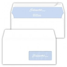 Buste con finestra Pigna Envelopes Silver90 Strip 90 g/m² 110x230 mm bianco Conf. 50 buste - 0062711