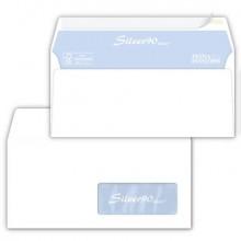 Buste con finestra Pigna Envelopes Silver90 Laser patella aperta 110x230 mm bianco  conf. 500 - 0221541