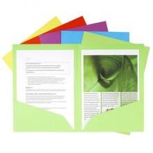 Buste doppia tasca Exacompta CoROCK cartoncino 210 g/m² A4 colori assortiti conf. 25 - 415000E