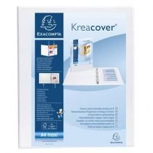 Raccoglitore personalizzabile Exacompta A4 maxi Kreacover® bianco 4 anelli a D 25 mm - 51946E