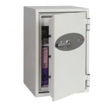 Cassaforte ignifuga Phoenix bianco - Ral 9003 chiusura a chiave di alta qualità. 84 lt. - FS 0442 K