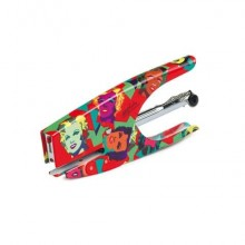 Cucitrice manuale a pinza POP OFFICE COLLECTION acciaio cromato fantasia MARYLIN passo 6 - 0083