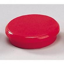 Magneti Dahle rotondi Ø 24 mm rosso  conf. 10 pezzi - R955243x10