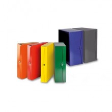 Portaprogetti con bottone EURO-CART presspan monolucido 25x35 cm dorso 6 cm giallo - CP06GI