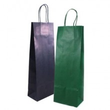 Sacchetti da regalo Rex-Sadoch Allegra tinta unita Dark 14x8,5x39 cm verde conf. da 25 - SDF12-560