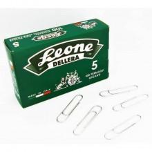 Fermagli Leone in acciaio zincato N. 5 1,1x49 mm rotondi zinco brillante scatola da 100 pz. - FZ5 (Conf.10)