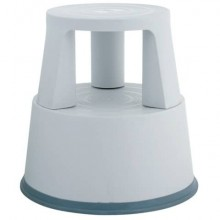 Sgabello tondo Q-Connect in plastica h 43 cm grigio chiaro KF01003