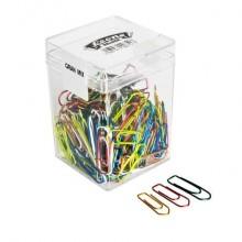 Fermagli Leone in filo colorato metallizzato Gran Mix misure assortite scatola da 125 g. - FXB125GMIX