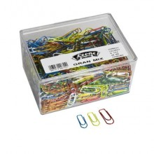 Fermagli Leone Gran Mix in filo colorato metallizzato misure assortite scatola da 500 g FX500GMIX