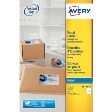 Etichette bianche per indirizzi per pacchi AVERY 199,6 x 143,5 mm 25 fogli - J8168-25