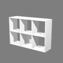 Libreria componibile Artexport Maxicolor - 6 caselle Bianco 6MaxC-3