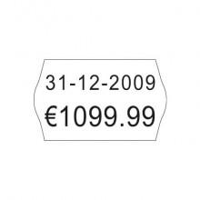 Etichette permamenti per prezzatrici Avery Dennison 16x26 mm 2 linee bianco Conf. da 10000 - FSR-10WP1626