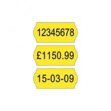 Etichette permamenti per prezzatrici Avery Dennison 12x26 mm 1 linea giallo Conf. da 10000 - FSR-10YP1226