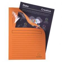 Cartelline con finestra Exacompta Forever® A4 cartoncino 120 g/m² arancio conf. da 100 - 50104E