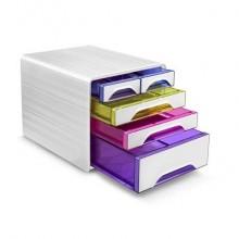 Cassettiera da scrivania CEP Smoove 360x288x271 mm bianco 5 cassetti misti 1072130931