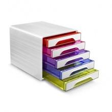 Cassettiera da scrivania CEP Smoove 360x288x271 mm bianco 5 cassetti medi 1071110931